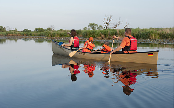Kanutour im Nationalpark Unteres Odertal