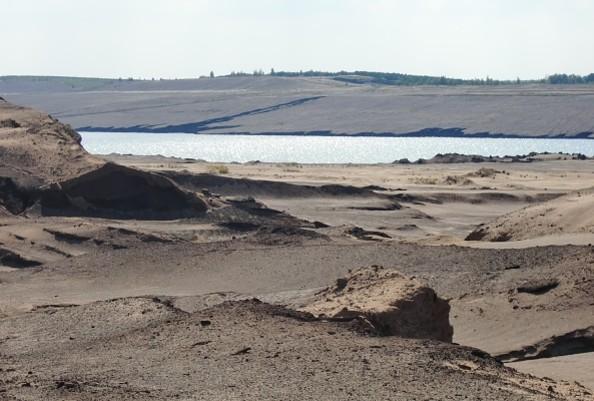 Bergbaufolgelandschaft am zukünftigen Ilsesee, Foto: Wieck