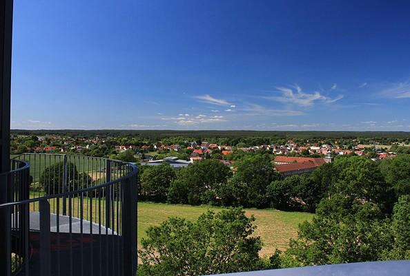Ausblick von der Aussichtsplattform BIORAMA-Projekt, Foto: TMB-Fotoarchiv/Regina Zibell