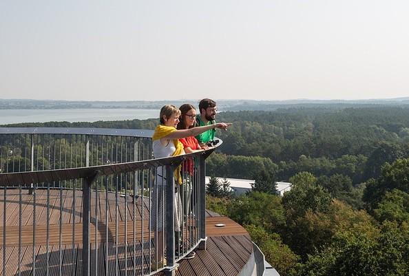 Ausblick von der Aussichtsplattform BIORAMA-Projekt, Foto: TMB-Fotoarchiv/Yorck Maecke