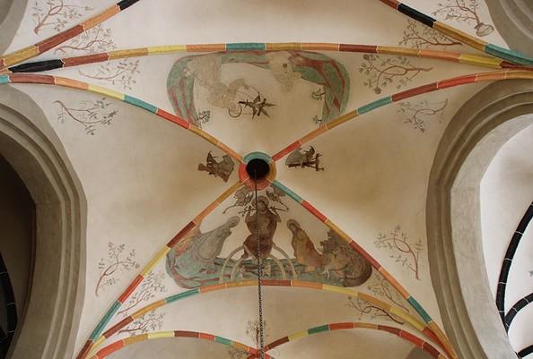Deckengewölbe im Mönchenkloster Jüterbog, Foto: TV Fläming e. V./ A. Stein