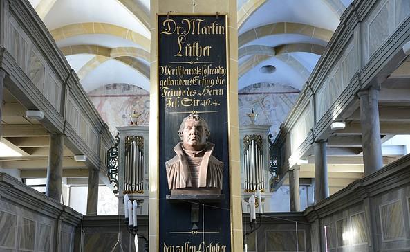 Blick in die Pfarrkirche in Plaue, Foto: Christian Bochwitz