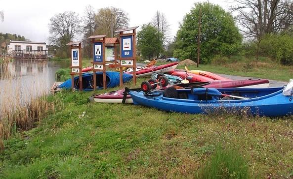 Ausstiegsstelle Siedlec auf polnischer Seite, Foto: Wassersport Forst e.V.