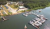 Hafencamp Senftenberger See - Luftbild, Foto: Mario Hambsch