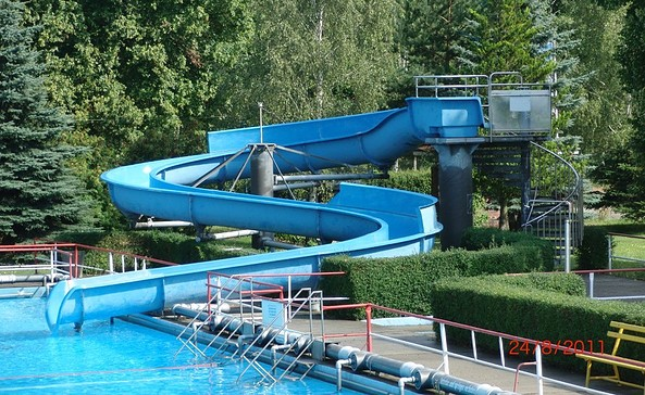 Rutsche im Freischwimmbad Schwarze Pumpe, Foto: Stadt Spremberg