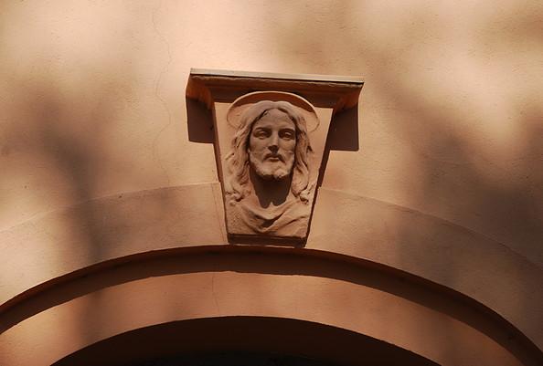 Kirche Ribbeck - Christuskopf als Schlussstein
