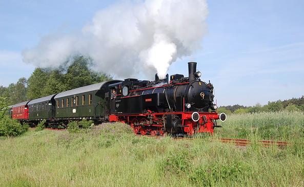 Historische Dampflokfahrt zum Heidekrautbahn-Museum, Foto: Berliner Eisenbahnfreunde e.V.