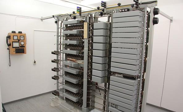 Blick in die Telefonzentrale, Foto: Heimatverein Biesenthal e.V.