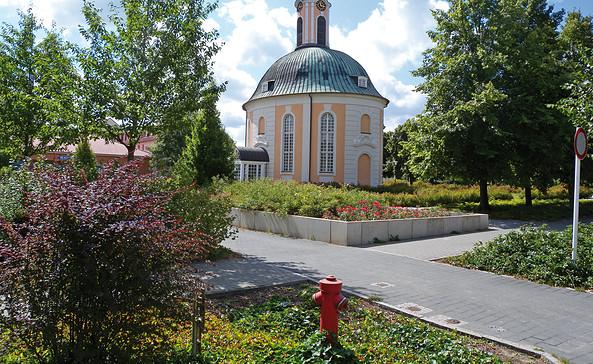 Der Berlischky-Pavillon an der Lindenallee in Schwedt/Oder, Foto: terra press Berlin