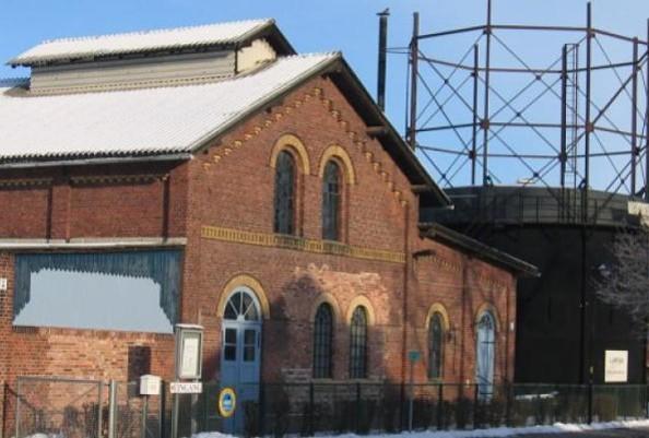 Technisches Denkmal Gaswerk Neustadt (Dosse) - Winteransicht