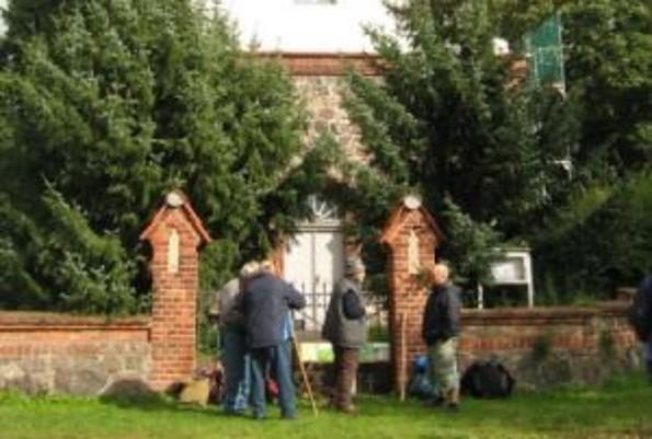 Pilgerherberge im Kirchturm in Barsikow