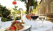 """Kulinarischer Genuss im Restaurant des Hotels """"Der Seehof Rheinsberg"""", Foto: Florian Busch"""