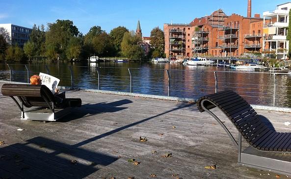 Am Wehr Mühlendamm - Wehr, Bootsschleppe, Foto: Jan Hoffmann