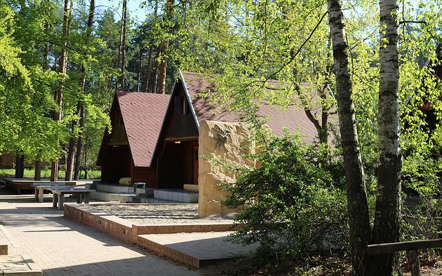 Holzhäuser im Jugendbildungszentrum Blossin