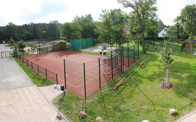 Fussballplatz und Bogenschießanlage
