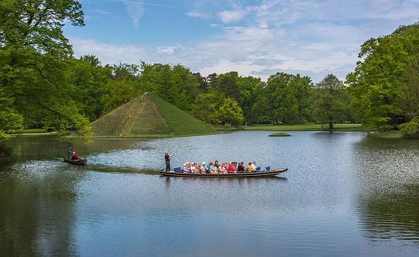 Schlosspark Branitz in Cottbus - Tumulus, Begräbnisstätte des Fürsten von Pückler-Muskau, Foto: TMB-Fotoarchiv/Steffen Lehmann