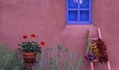 Testbild - Blaues Fenster