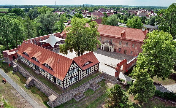 Burg Storkow - Luftaufnahme, Foto: André Emmerich