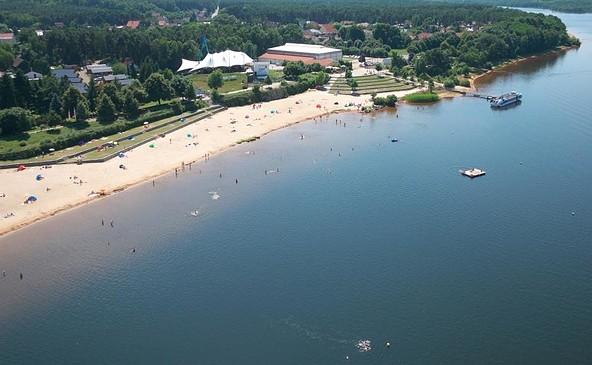 Seestrand Großkoschen am Senftenberger See, Foto: Zweckverband Lausitzer Seenland Brandenburg