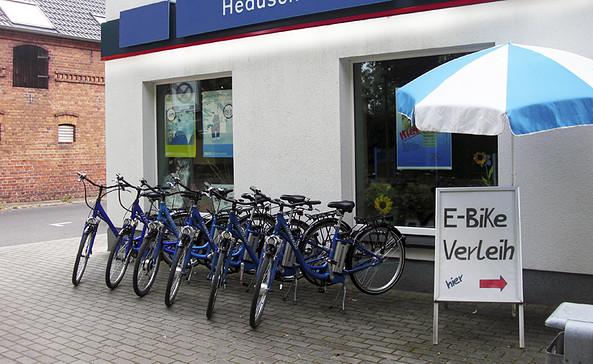 Fahrradvermietung der Heduschka GmbH am Senftenberger See, Foto: Heduschka GmbH