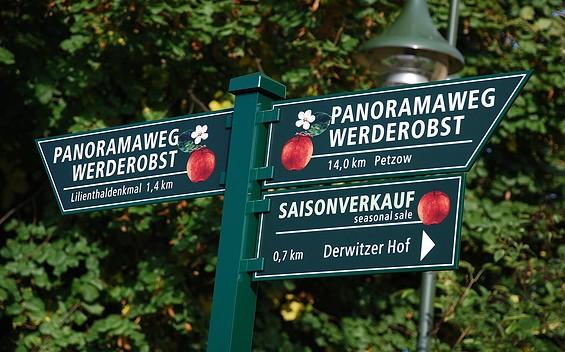 Panoramawanderweg durch das Obstbaugebiet Werder (Havel)