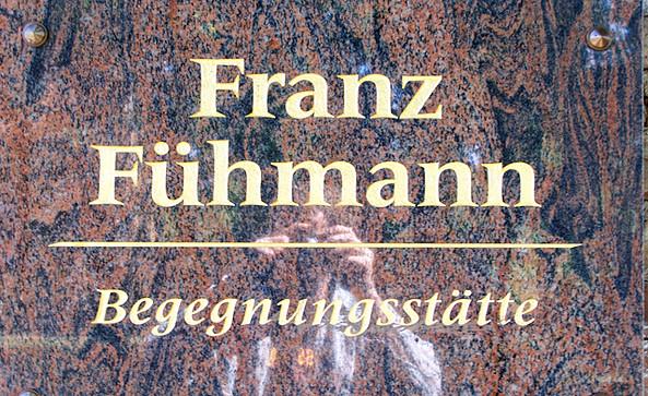 Franz Fühmann Gedenktafel in Märkisch Buchholz, Foto: Tourismusverband Dahme-Seen e.V.