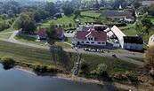 """Luftbild des Restaurants """"Gasthof am Hafen"""", Foto: Gasthof am Hafen"""