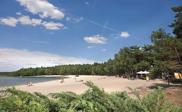 Blick auf den Briesensee am Spreewälder Seecamping Briesensee, Foto: Tourismus-Entwicklungsgesellschaft Lieberose/Oberspreewald mbH