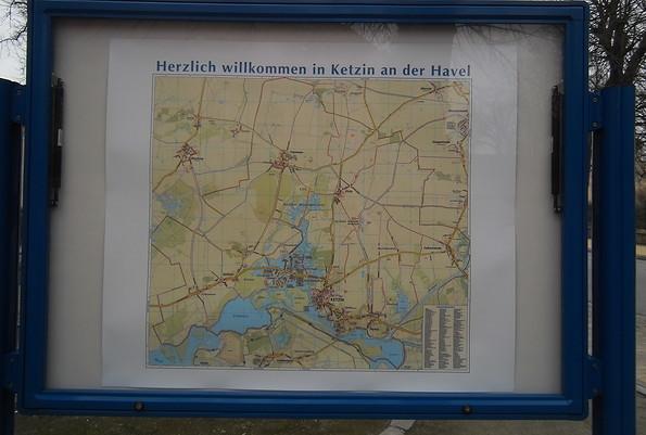 Ketzin/Havel - Lageplan, Foto: TAB