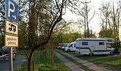 Wohnmobilstellplatz der Campinginsel Havelberg