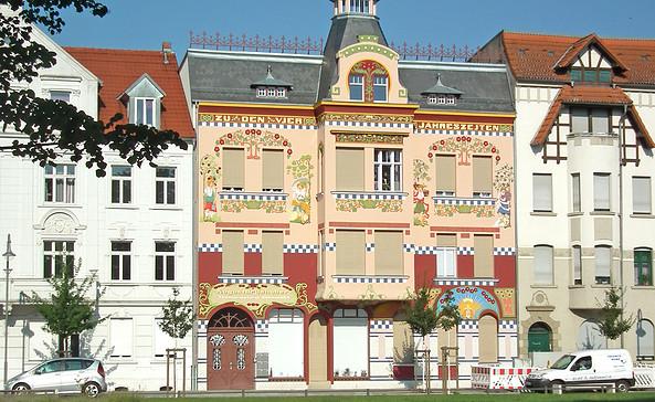 Das Haus der vier Jahreszeiten in Wittenberge, Foto: terra press Berlin