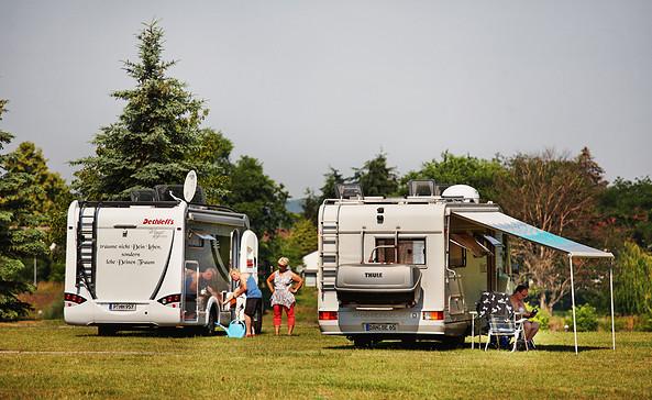 Camping an der Oder Hohenwutzen, Foto: Nicolas Gesch