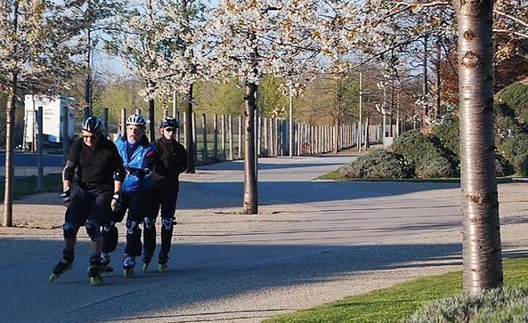 Skaten im Volkspark Potsdam, Foto: TMB/Hoffmann