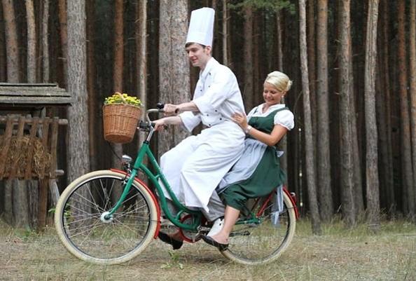 Der Koch unterwegs zum Markt, Foto: Kolonieschänke Burg
