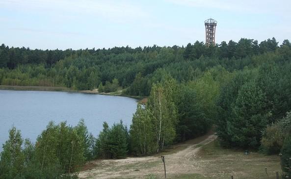Felixsee+Turm, Foto: Geopark Muskauer Faltenbogen
