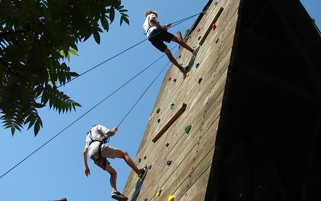 Outdoorkletterwand des Jugendbildungszentrum Blossin