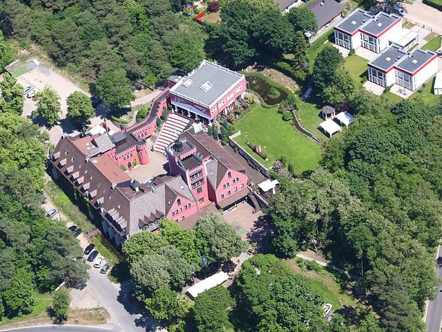 The Lakeside Burghotel zu Strausberg von oben