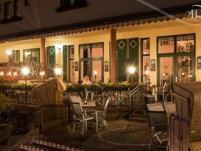 Innenhof bei Abendschein