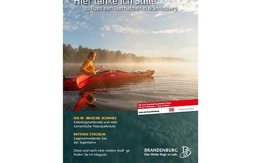 """Brandenburg-Magazin """"Hier tanke ich Stille"""""""