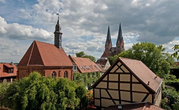 Blick zur Klosterkirche