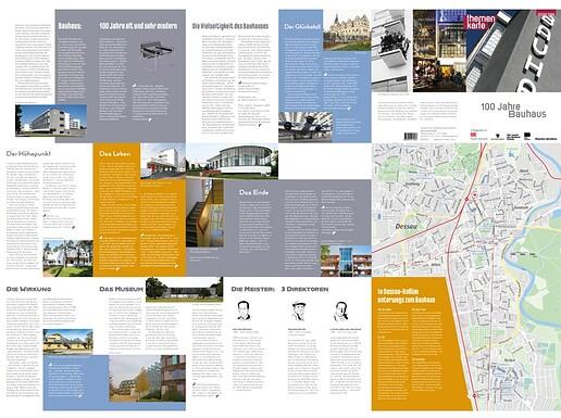 Themenkarte 100 Jahre Bauhaus