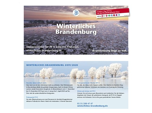 Flyer Winterliches Brandenburg 2019/2020