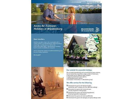 Handicapped accessible travel through Brandenburg