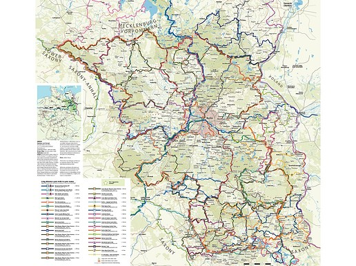 Cycling Map Brandenburg