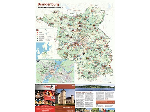 Kaart Vakantiebestemming Brandenburg