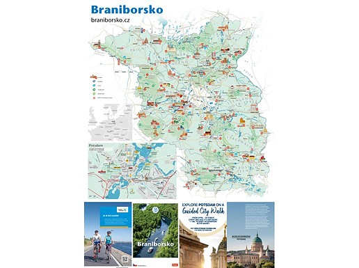 Mapa Braniborsko