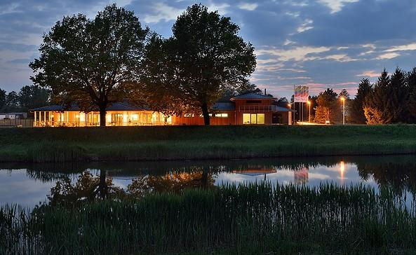 Traumhaus am Abend