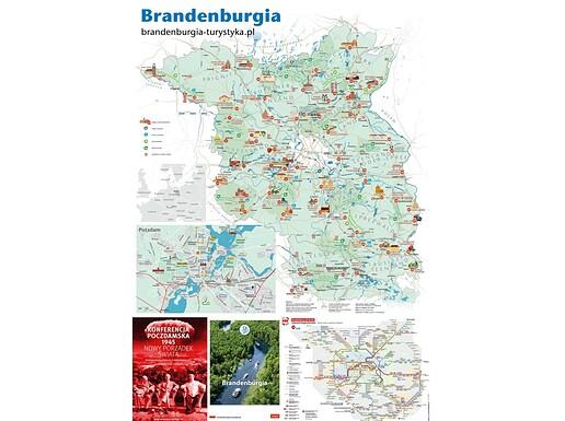 Mapa Kraina turystyki Brandenburgia