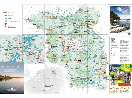 Lieblingsorte entdecken - Brandenburg-Karte